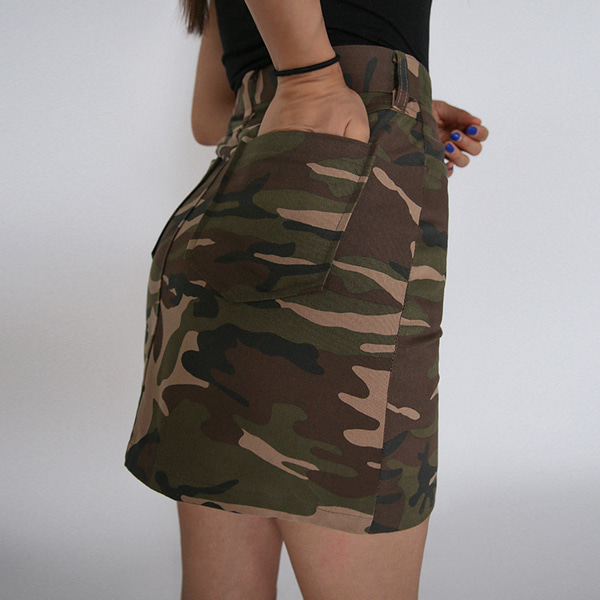 [NTNY-056] CAMO COTTON SKIRT