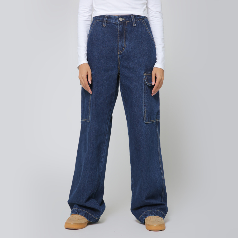 [NTNY-193] AUSTIN WIDE CARGO DENIM PANTS