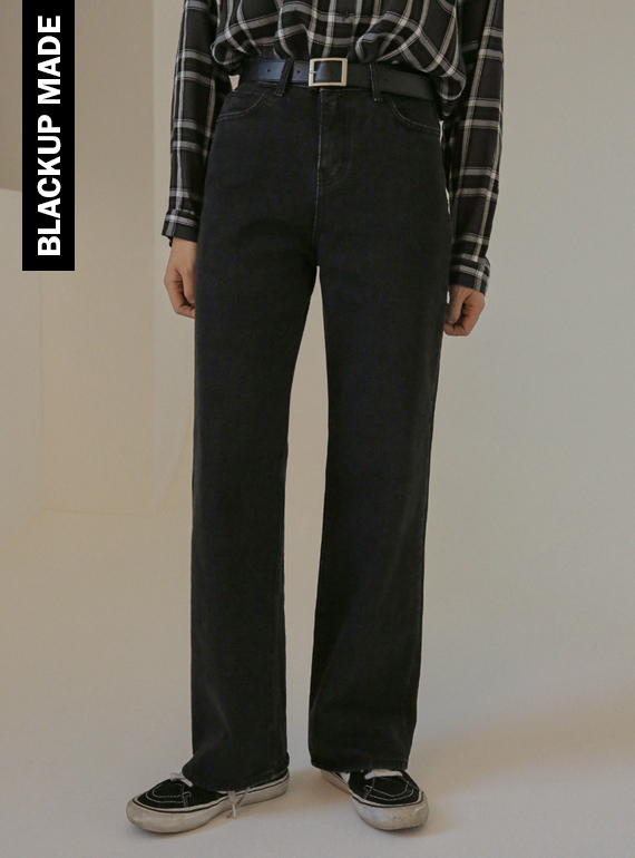 (BLACK UP) longrun bootscut pants (흑청)
