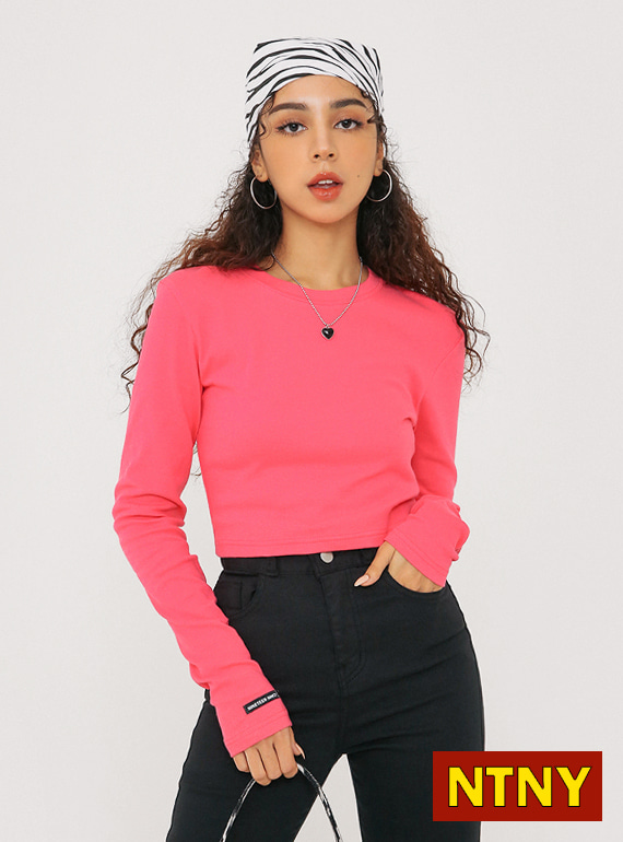 [NTNY-202] NANCY LONG SLEEVE CROP T